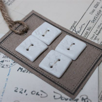 White lace square buttons