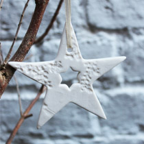 White star Christmas decoration