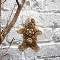 Small Gingerbread man decoration